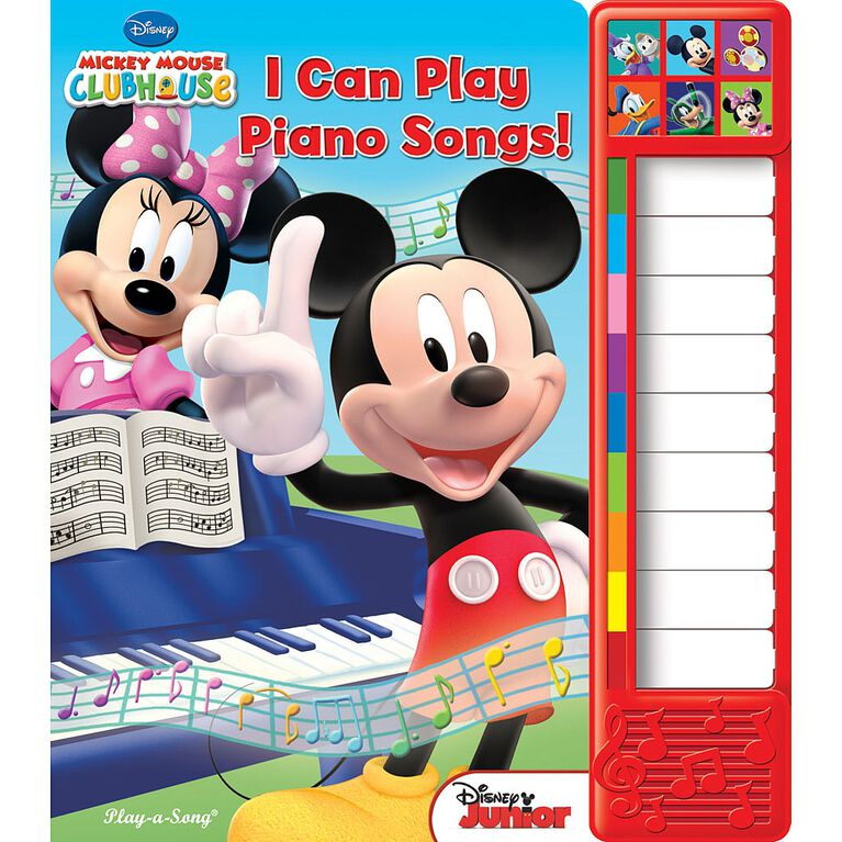 Play-a-Sound Book: Mickey Mouse - I Can Play Piano Songs! - English Edition