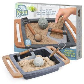 Kinetic Sand Kalm, Coffret zen Kinetic Sand pour adultes avec 3 outils pour un jeu sensoriel relaxant