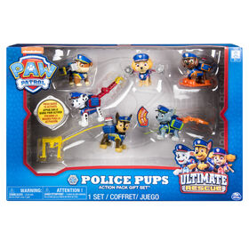 PAW Patrol – Ultimate Rescue Police Pups Action Pack Gift Set™, 6 Figures with Transforming Backpacks