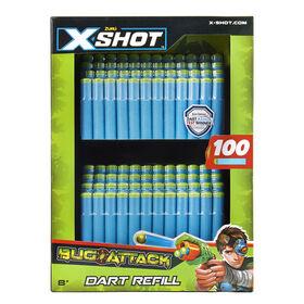 X-Shot Bug Attack Foam Darts Refill Pack (100 Darts) by ZURU