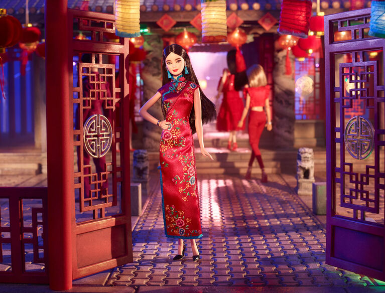Barbie Lunar New Year Doll in Cheongsam Dress