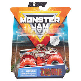 Monster Jam, Official Zombie Monster Truck, Die-Cast Vehicle, Nitro Neon Series, 1:64 Scale