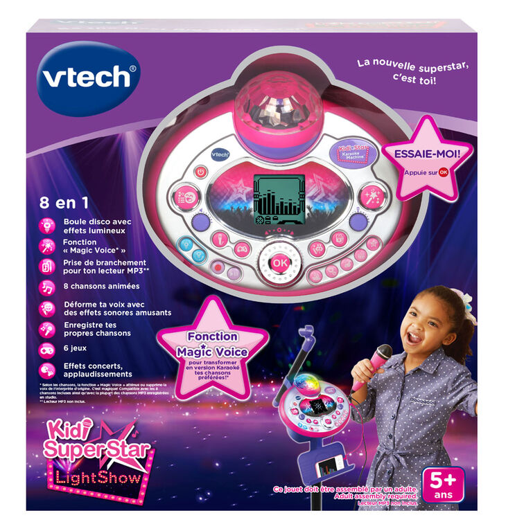 VTech® Kidi Star Karaoke Machine™ (Pink/Purple) - French Edition