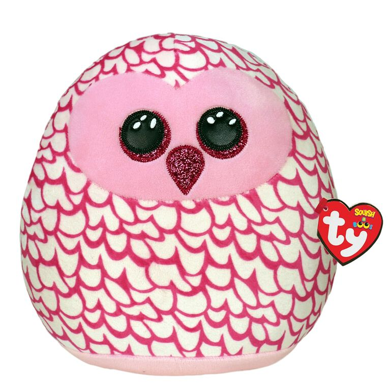 Ty Squish Pinky Pink Owl 10 inch