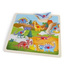 Imaginarium Discovery - Wooden Classic Peg Puzzle Assortment - Dinosaur