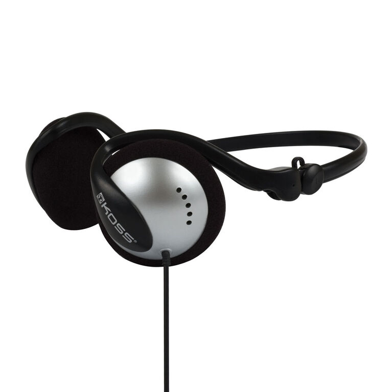 Koss Headphone Wraparound Pliable Noir / Argent