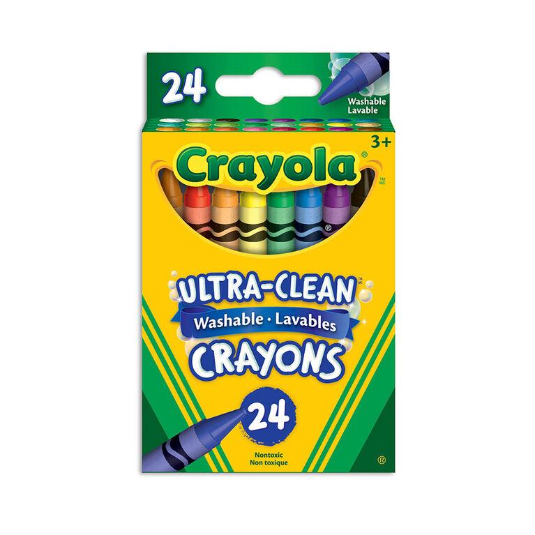 Crayola Ultra-Clean Washable Crayons, 24 Ct