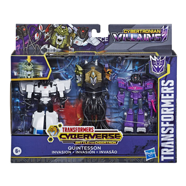 Transformers Bumblebee Cyberverse Adventures Quintesson Invasion Pack - English Edition - R Exclusive