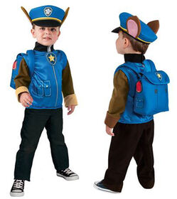 PAW PATROL CHASE  DELUXE COSTUME TOP SET