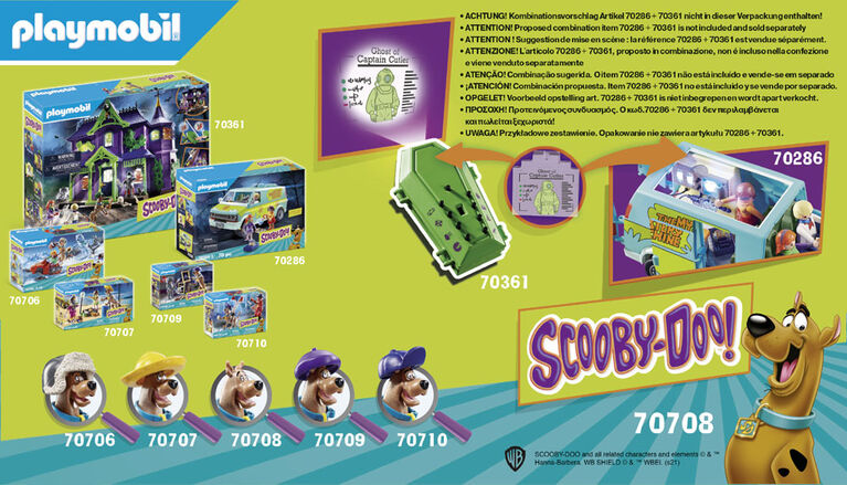 Playmobil - SCOOBY-DOO  avec fantôme du capitaine Cutler