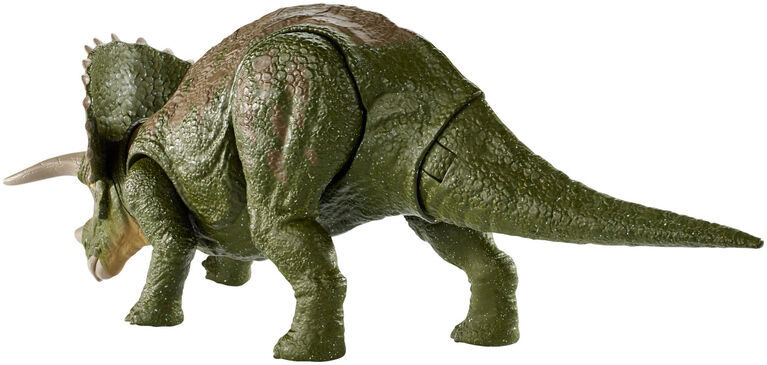 Jurassic World - Double Attaque - Figurine Tricératops.