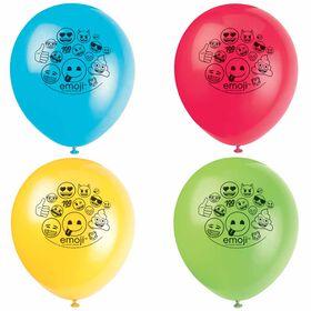 "Emoji 12"" Latex Balloons, 8 pieces"