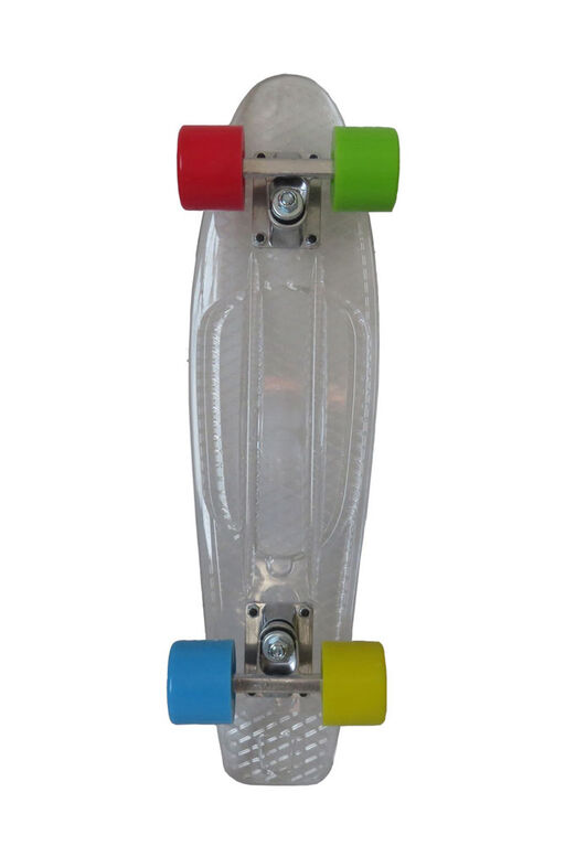 "Sport Runner 225"" Transparent Skateboard - Clear - R Exclusive"