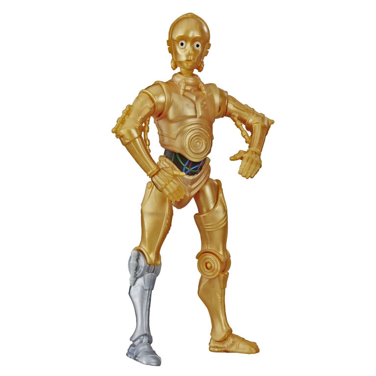 Star Wars Galaxy of Adventures C-3PO Toy 5-inch Scale Action Figure with Fun Droid Demolition Feature