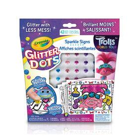 Crayola Glitter Dots Sparkle Signs, Trolls World Tour