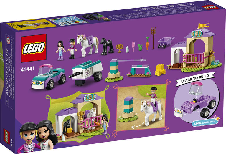 LEGO Friends Le dressage de chevaux et la remorque 41441