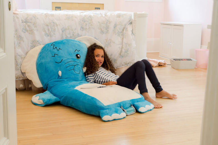 Soft Landing Luxe Loungers Elephant Character Cushion