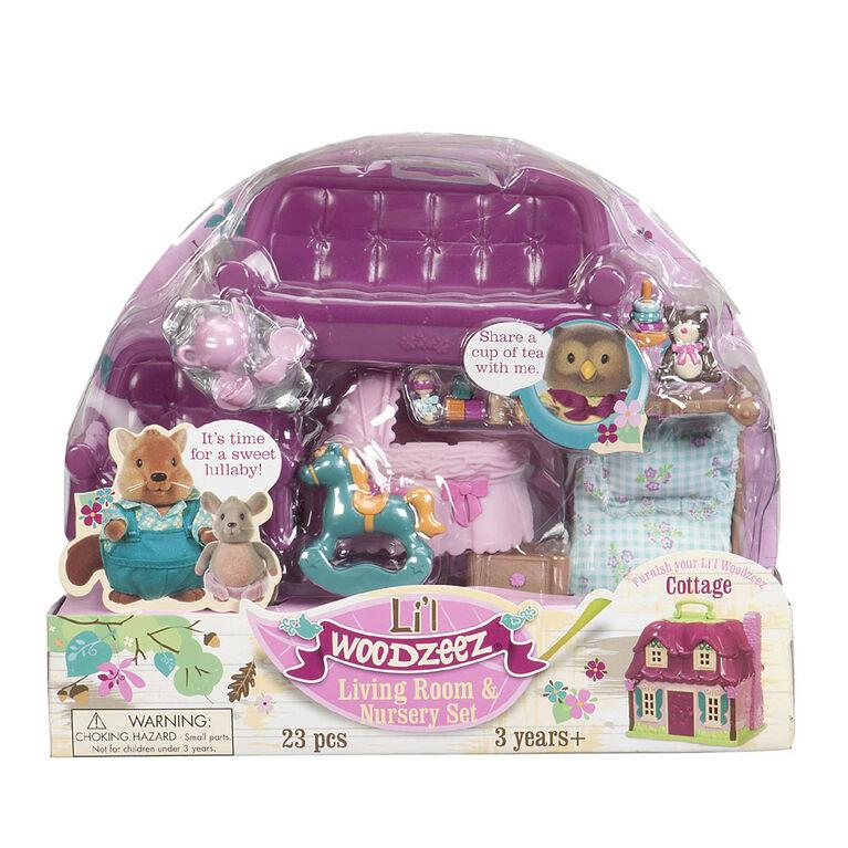 Li'l Woodzeez, Living Room & Nursery Playset