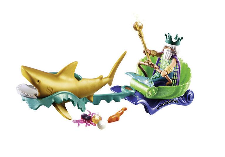 Playmobil Magic King Of The Sea W/ Shark Carriage 70097