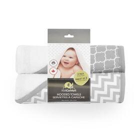 KidiComfort 2 Pack Hooded Towel - Grey - Styles May Vary