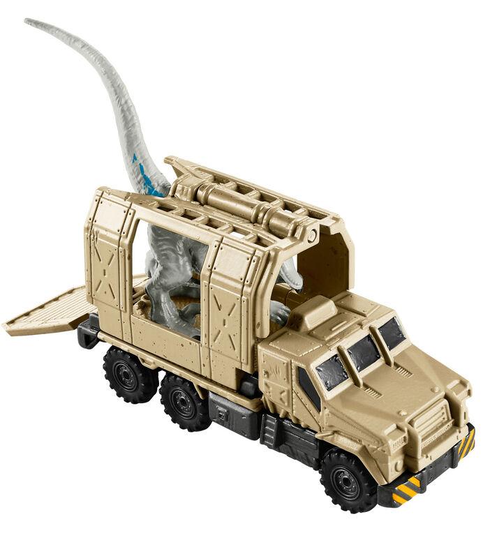 Matchbox Jurassic World Dino Transporters Armored Raptor Hauler and Figure