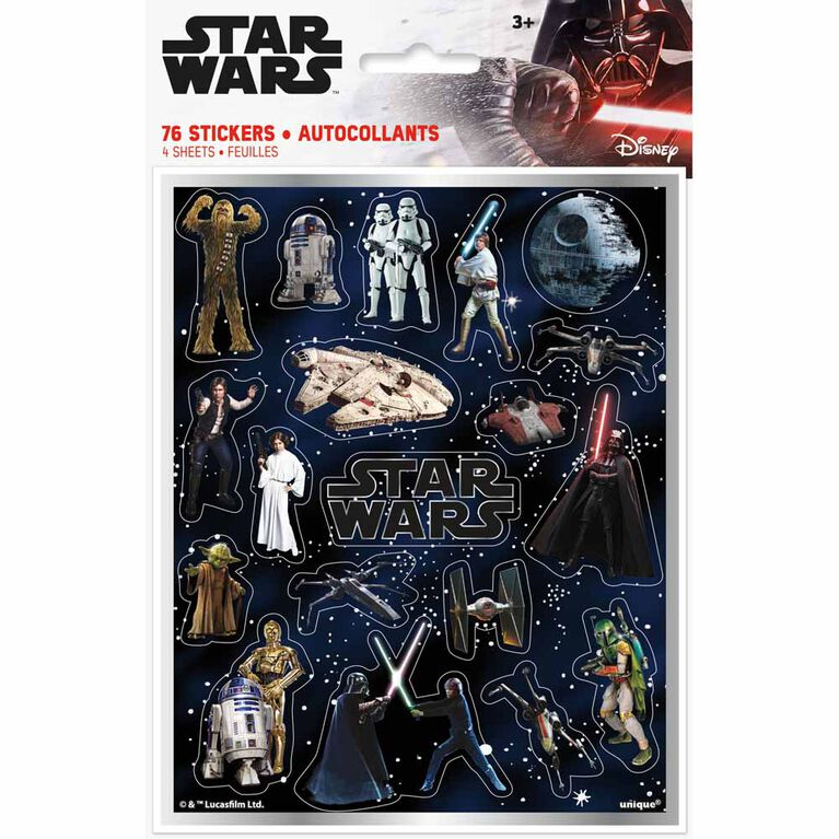 Star Wars Classic Sticker Sheets, 4 pieces