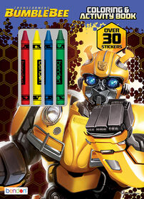 Transformers Bumblebee 48 Page Colouring & Activity Book with Crayons - English Edition
