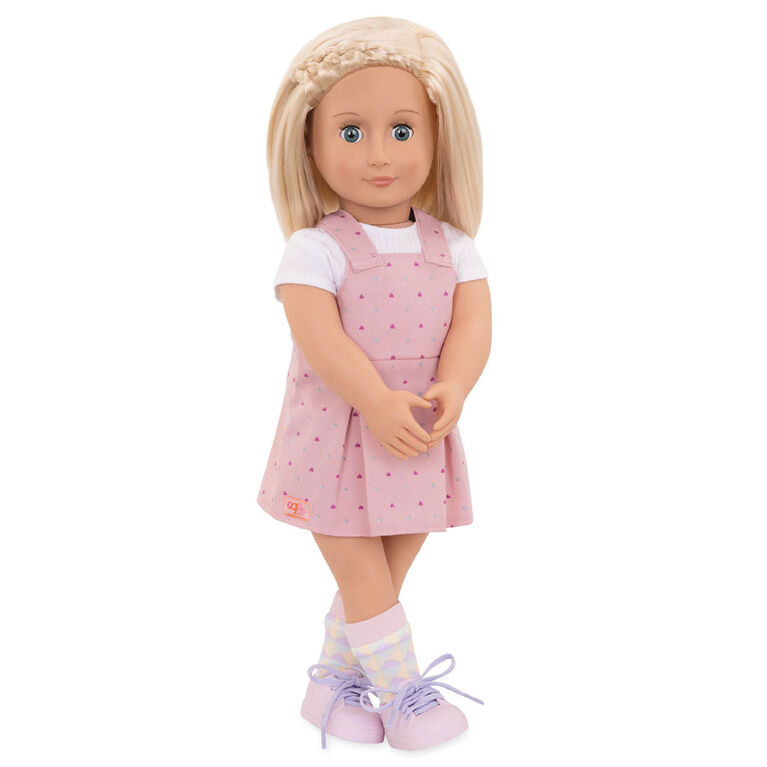 Our Generation, Naty, 18-inch Doll with Pink Dress