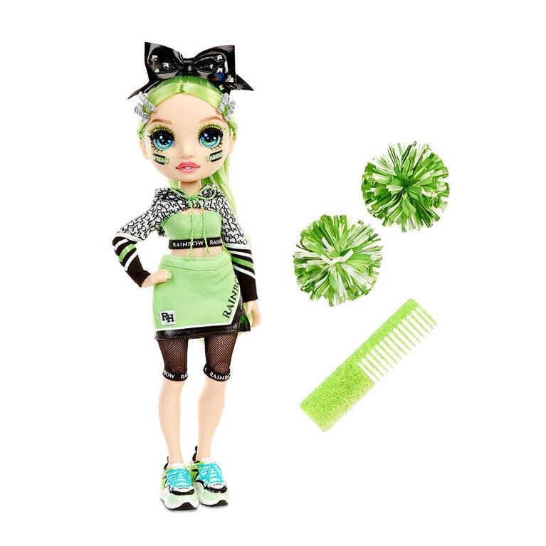 Rainbow High Cheer Jade Hunter - Green Fashion Doll with Pom Poms