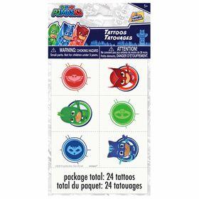 PJ Masks Tattoo Sheets, 4 pieces