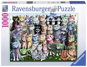 Ravensburger! Cat Family Reunion casse tête (1000pc)