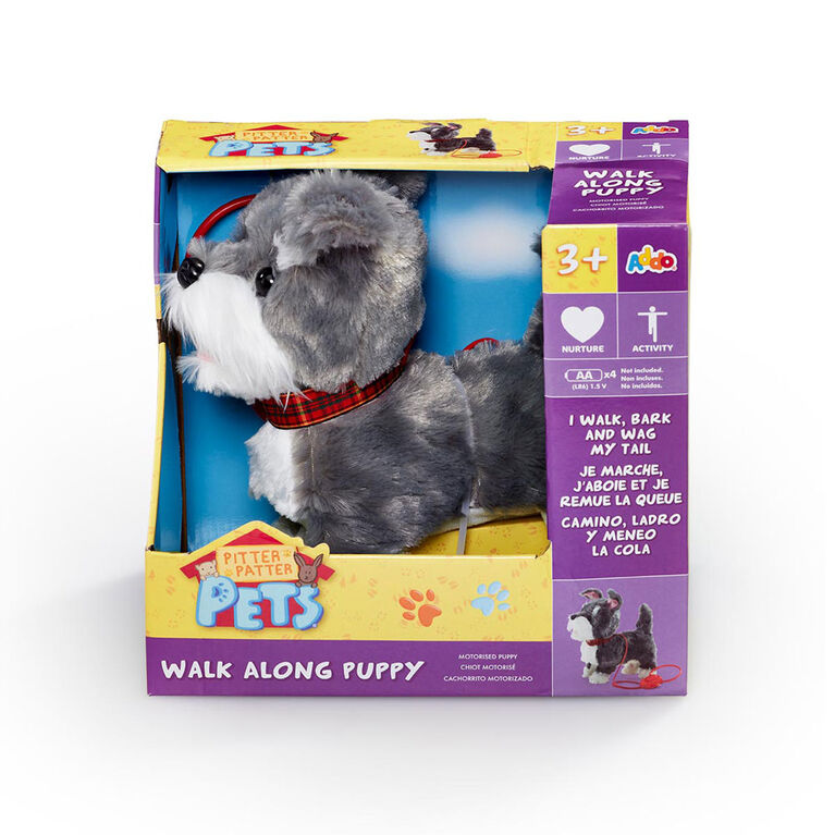 Pitter Patter Pets - Coffret Walk Along Puppy Gris et blanc