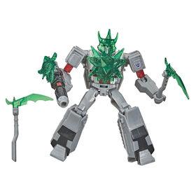 Transformers Bumblebee Cyberverse Adventures, figurine Megatron Battle Call, classe Soldat, lumières activées par la voix, 14 cm, dès 6 ans