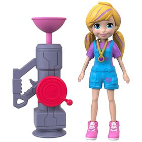 Polly Pocket Active Pose Zipline Doll