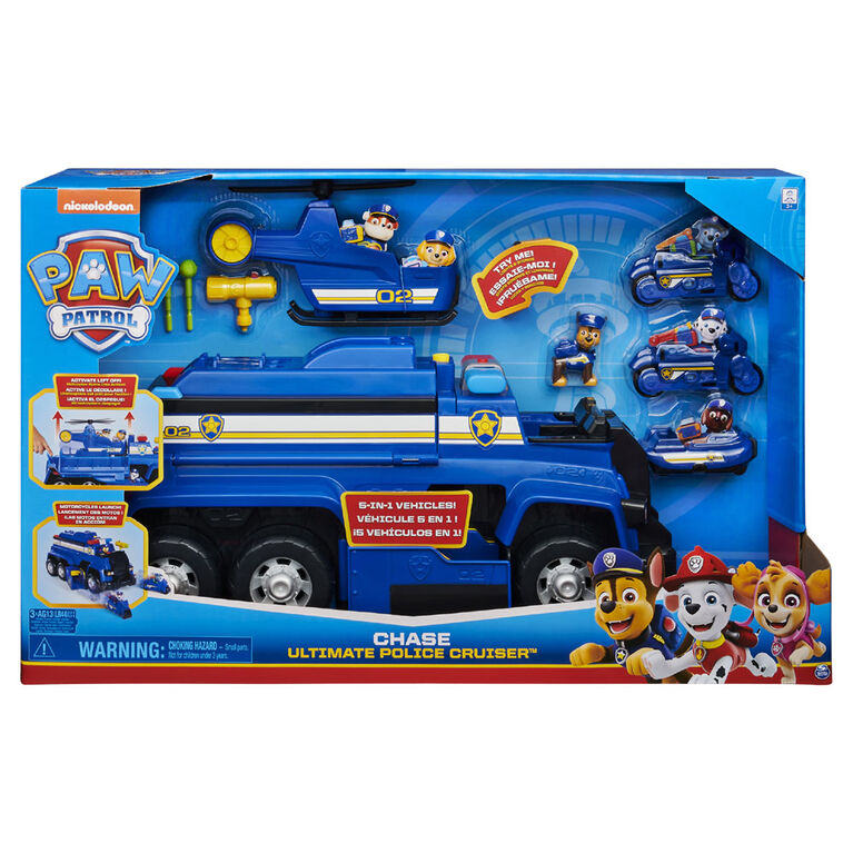 PAW Vehicle Chase Dlx Police Cruiser