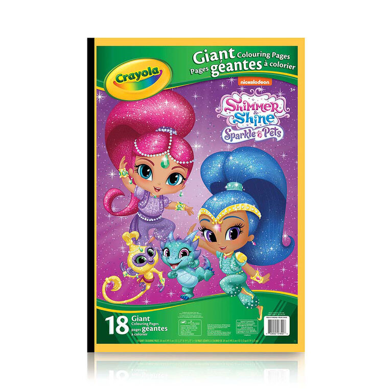 Crayola - Giant Colouring Pages, Shimmer & Shine Sparkle Pets