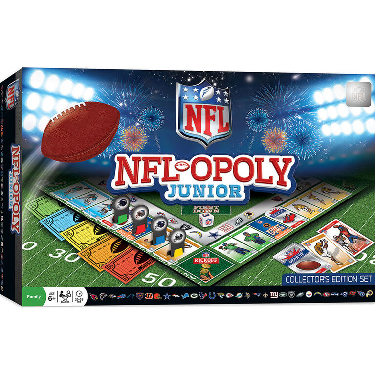 NFL Opoly Junior Board Game - English Edition
