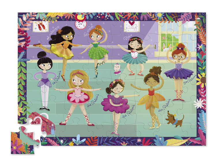 Crocodile Creek - Little Princess Double Fun 48 piece Jigsaw Puzzle in Purse Shaped Box