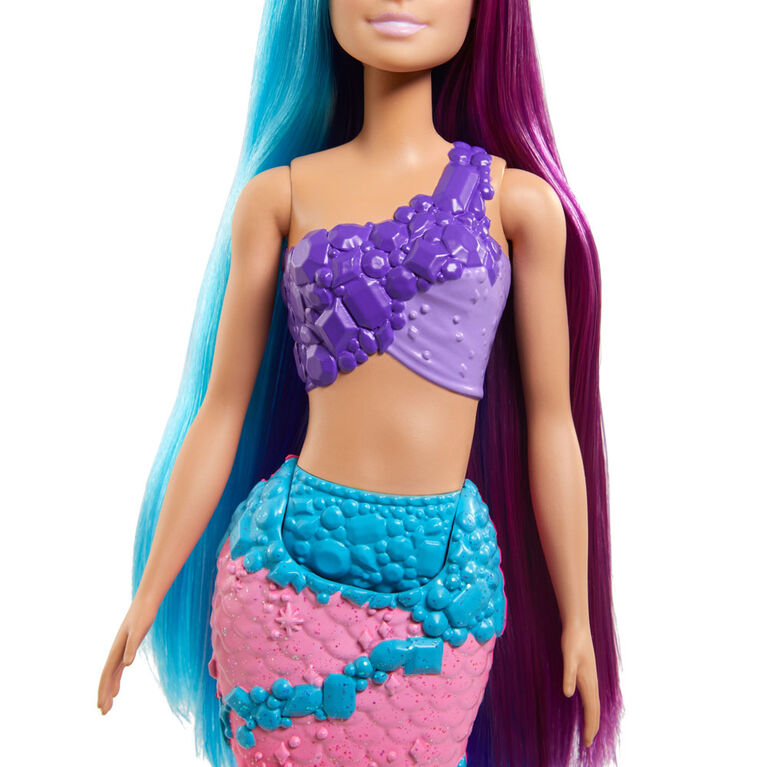 Barbie Dreamtopia Mermaid Doll (13-inch) with Extra-Long Two-Tone Fantasy Hair