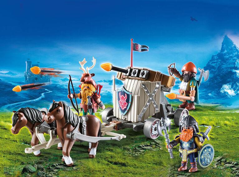 Playmobil - Char de combat avec baliste et nains