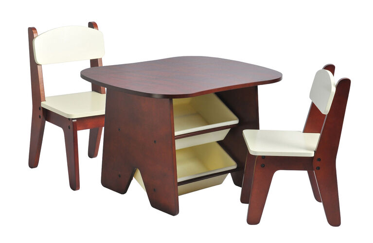 Imaginarium Table and 2 Chair Set - Espresso