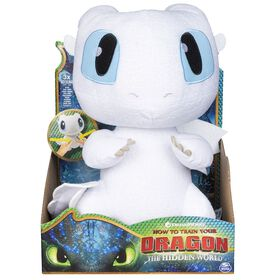 How To Train Your Dragon, Squeeze & Growl Lightfury, 10-inch Plush Dragon with Sounds - R Exclusive