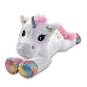 """Snuggle Buddies 31"""" Lying Large Dreamy Friend Unicorn"""