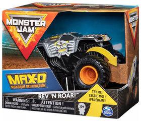 Monster Jam, Official Max D Rev 'N Roar Monster Truck, 1:43 Scale