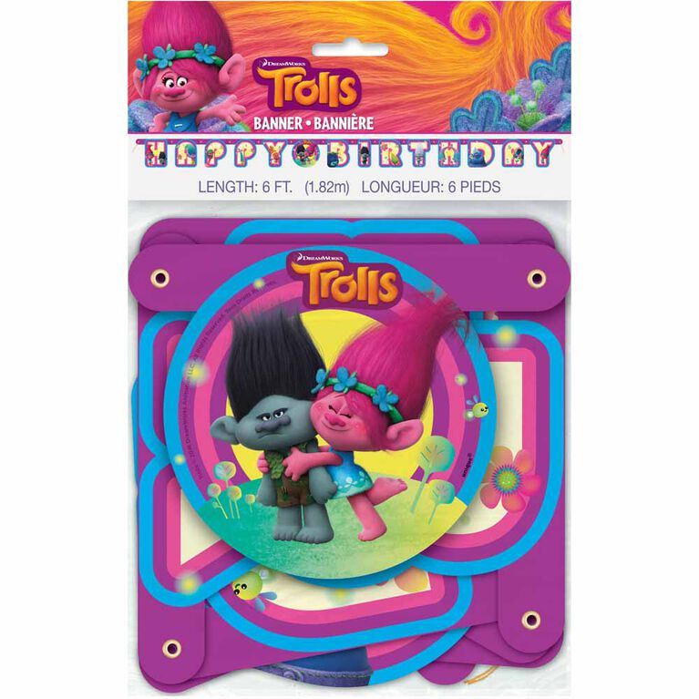 Trolls Large Jointed Banner - English Edition