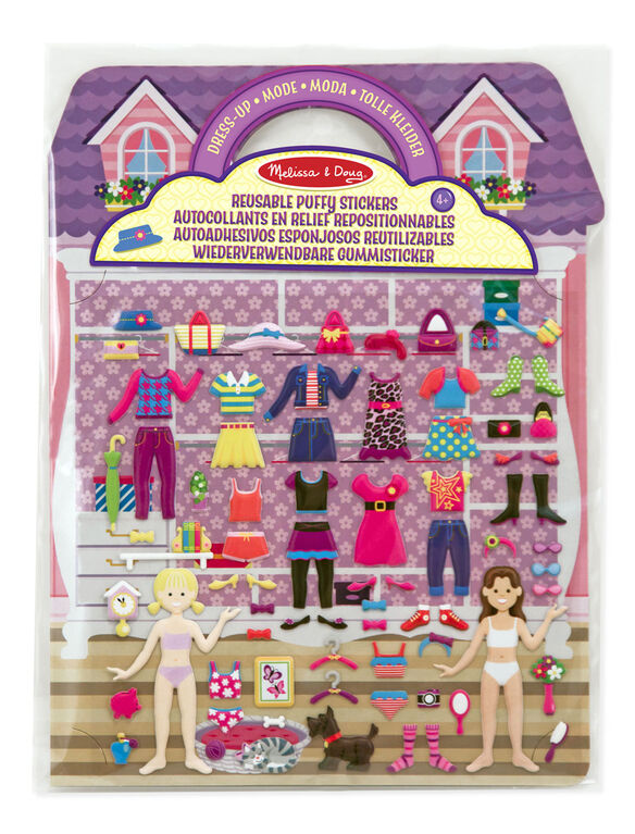 Melissa & Doug Reusable Puffy Stickers - Dress-Up
