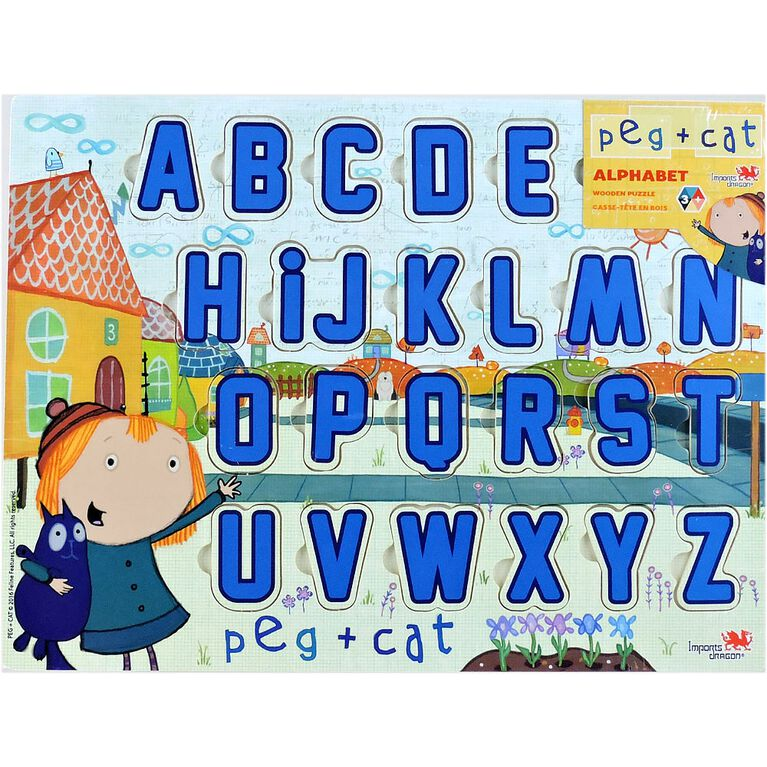 Peg + Cat Wooden Puzzle (Alphabet and Number)