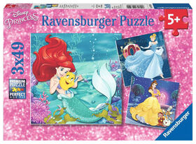 Ravensburger - Disney Princess - Princesses Adventure Puzzle 3 x 49pc