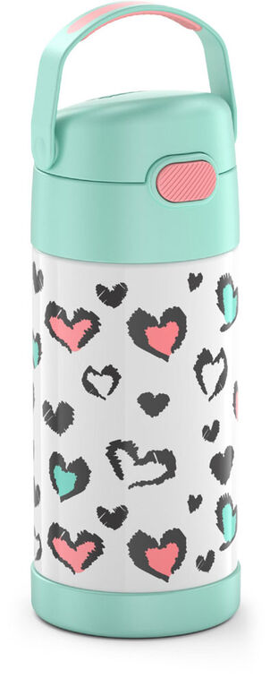 Bouteille Funtainer de Thermos, Coeurs Pastel, 355ml