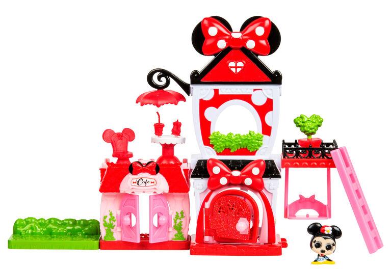 Disney Doorables - Multi ensemble de jeu à empiler - Minnie Mouse.